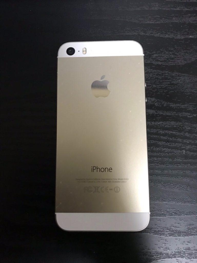 中古iPhone5s裏面