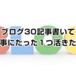 ブログ30記事